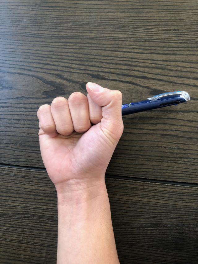 腱鞘炎なりやすい中指親指2