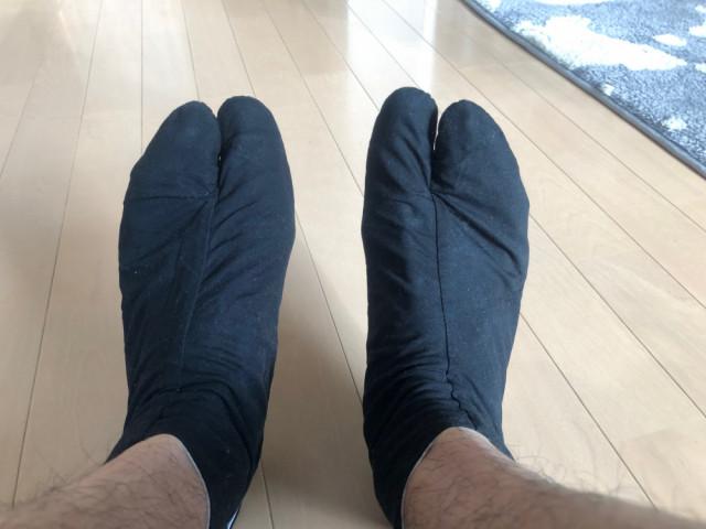 足袋を履く